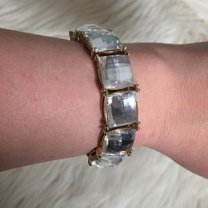 3/$10 Fashion Clear Crystal Stretch Bracelet